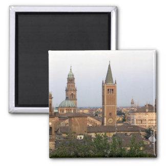 Parma city center; Battistero church on the 2 Inch Square Magnet