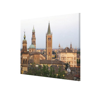 Parma city center; Battistero church on the Stretched Canvas Print