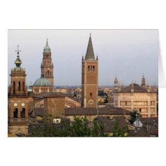 Parma city center; Battistero church on the Card