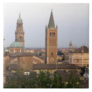 Parma city center; Battistero church on the Ceramic Tile