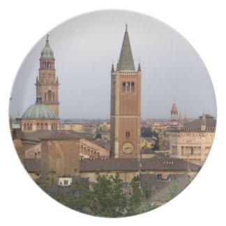 Parma city center; Battistero church on the Melamine Plate