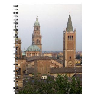 Parma city center; Battistero church on the Notebook