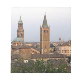 Parma city center; Battistero church on the Notepad