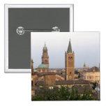 Parma city center; Battistero church on the Pinback Button