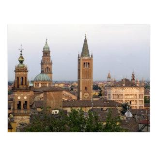 Parma city center; Battistero church on the Post Card
