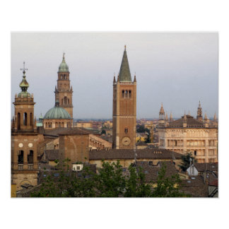 Parma city center; Battistero church on the Poster
