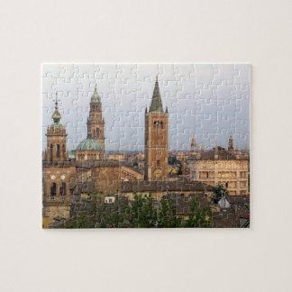 Parma city center; Battistero church on the Puzzle