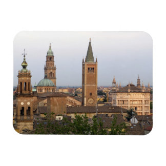 Parma city center; Battistero church on the Rectangular Photo Magnet