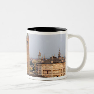 Parma city center; Battistero church on the Two-Tone Coffee Mug
