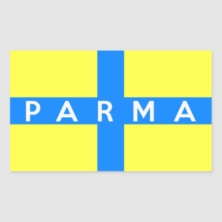 parma city flag italy country name text rectangle stickers