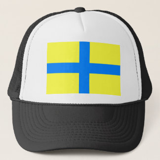 parma city flag italy country symbol trucker hat