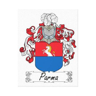 Parma Family Crest Canvas Print