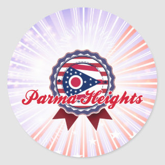 Parma Heights, OH Round Stickers