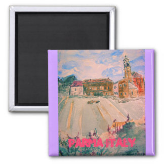 parma italy art 2 inch square magnet