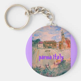 parma italy art keychain