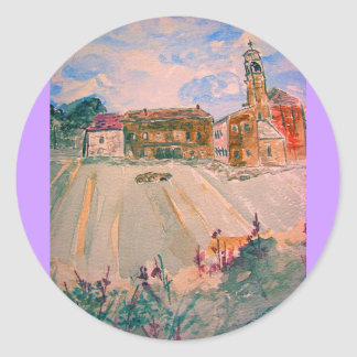 parma italy classic round sticker