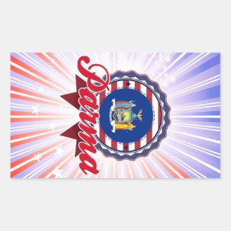 Parma, NY Rectangle Stickers