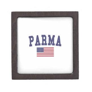 Parma US Flag Keepsake Box
