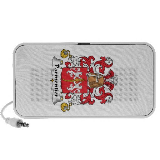 Parmentier Family Crest Notebook Speakers