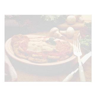 Parmesano de ternera delicioso membretes personalizados