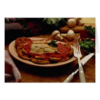 Parmesano de ternera delicioso tarjeta de felicitación
