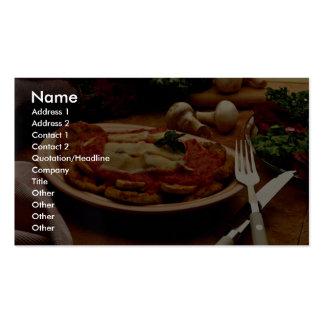 Parmesano de ternera delicioso tarjetas de visita