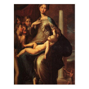 Parmigianino Madonna mit dem langen Hals Madonna w Postcard