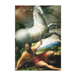 Parmigianino Spill of Paul Canvas Print