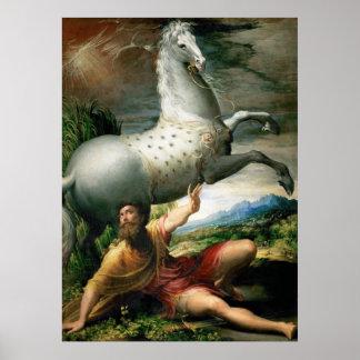 Parmigianino Spill of Paul Poster