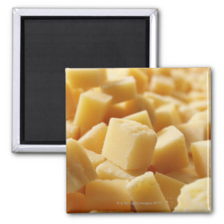 Parmigiano Reggiano cheese in cubes 2 Inch Square Magnet