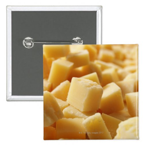 Parmigiano Reggiano cheese in cubes Pinback Buttons