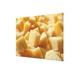 Parmigiano Reggiano cheese in cubes Canvas Print