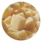 Parmigiano Reggiano cheese in cubes Dinner Plate