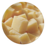 Parmigiano Reggiano cheese in cubes Dinner Plates