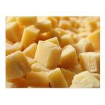 Parmigiano Reggiano cheese in cubes Postcards