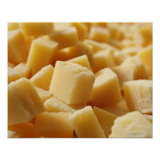 Parmigiano Reggiano cheese in cubes Posters