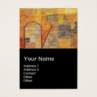 PARNASSUS / ABSTRACT,black Business Card