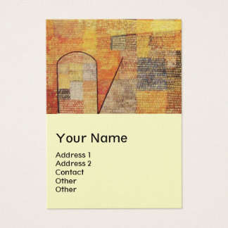 PARNASSUS / ABSTRACT,cream, pearl paper Business Card