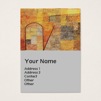 PARNASSUS / ABSTRACT,grey Business Card