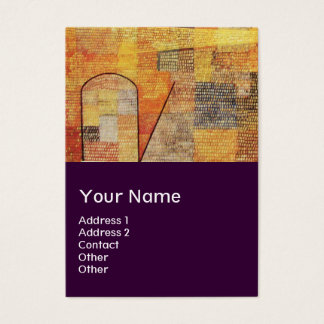 PARNASSUS / ABSTRACT,purple Business Card
