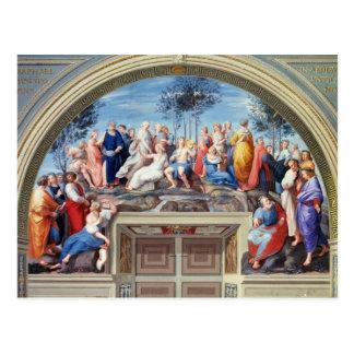 Parnassus and the Disputa, from the Stanza della S Postcard