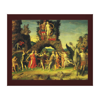 Parnassus, Mars and Venus by Andrea Mantegna Canvas Print