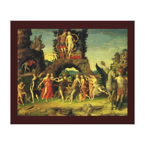 Parnassus, Mars and Venus by Andrea Mantegna Canvas Print