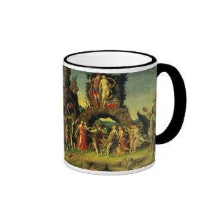 Parnassus, Mars and Venus by Andrea Mantegna Ringer Coffee Mug