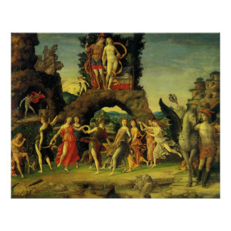 Parnassus, Mars and Venus by Andrea Mantegna Poster
