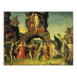 """Parnassus, Marte y Venus de Andrea Mantegna Invitación 4.25"""" X 5.5"""""""
