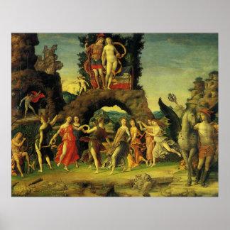 Parnassus, Marte y Venus de Andrea Mantegna Póster