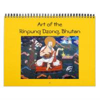 paro dzong art calendar
