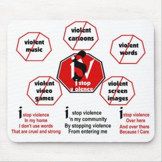 Paro violencia/el cojín de ratón de Poem© Alfombrillas De Ratones