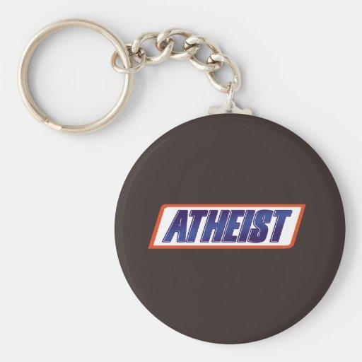 Parodia atea del ateísmo llavero redondo tipo pin